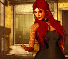 Does anyone care?  (Simon Sonnenblume) Tags: secondlife virtualworld chamber candid redhead