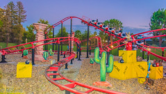 Colorful Magic Mountain (Mrinmoy Saha) Tags: magic mountain nikon d52000 dslr panaromic tall wide nature landscape manual earth top bright dim shadow light around view look travel happy life lively adventure globe world lonely peace peaceful calm quiet moment sharp clear soft beautiful capture red blue green color colors vivid vibrant legend sunset horizon orange golden shine sky roller coaster