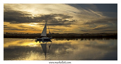 River Yare at Sunset. (Mark Ollett) Tags: yacht river boat norfolkbroads sunset nikon