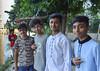 People wanting their pictures taken (Francisco Anzola) Tags: dhaka bangladesh gulshan portrait kids teens lake shore trees
