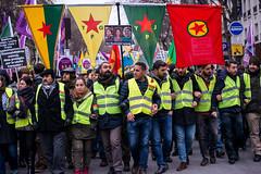 Marche Kurde pour Fidan, Sakîne et Leyla (dprezat) Tags: paris kurdistan kurde leylasaylemez fidandogan sakinecansiz hommage résistance manifestation manif contest protest politique politic lutte street people nikond800 nikon d800