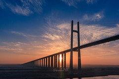 Suez-bridge (Double.D - Photography) Tags: suezkanal water ship sun sunrise bridge outdoor canon 400d sigma 1750mm doubled suezbridge massive architecture architektur sonne sonnenaufgang suezbrcke himmel sky brcke gypten
