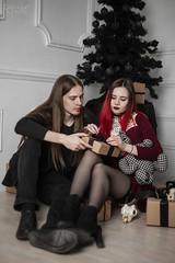IMG_0205 (rodinaat) Tags: new year happy holiday tree christmas skull goat satan brutal metal metalhead longhaie redhair red black