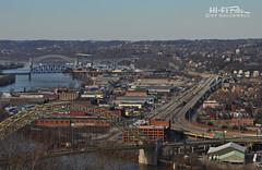 Up River (Hi-Fi Fotos) Tags: pittsburgh pennsylvania rustbelt city industrial rt65 westendbridge bridges roads allegheny river urban nikon d5000 hififotos hallewell