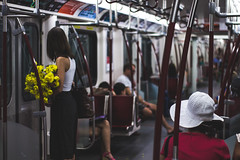 IMG_4932 (BrianAnthonyH) Tags: street flowers red toronto canada yellow subway petals candid ttc transit