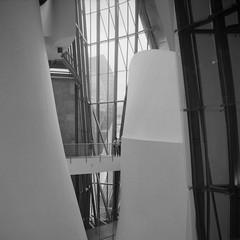 Interior Guggenheim Bilbao #1 (Alfred ter Wal) Tags: bw 120 6x6 film mediumformat spain bilbao guggenheim mf weltaflex rolleiretro400s