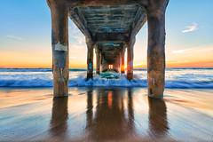 Manhattan Pier (KP Tripathi (kps-photo.com)) Tags: california sunset pier manhattan pacificocean manhattanbeach manhattanpier lasangeles nikkor1424 kptripathi nikond800e kpsphotocom
