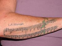 LA Woman Sheet Music (fungrammyz) Tags: tattoos sheetmusic forearm thedoors lawoman