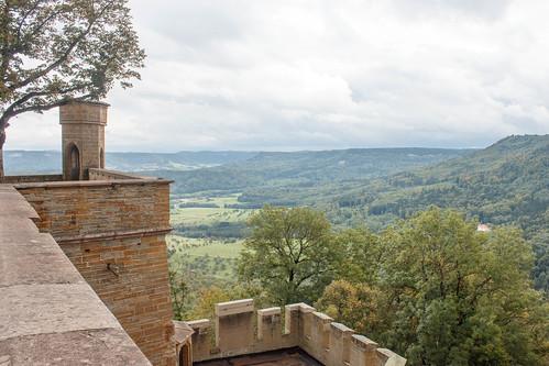 Vue sur le Zeller Horn depuis le château de Hohenzollern