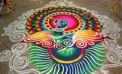 Traditional Tamil Kolam Rangoli Design (pai.keshav) Tags: tamil kolam rangoli