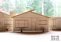 6by6Arts_PopUpVillage10 (thea superstarr) Tags: wood houses holiday modern century village handmade birch kit popup maker pnw mid midcenturymodern madeinusa mcm lasercut laserengraved 6by6arts