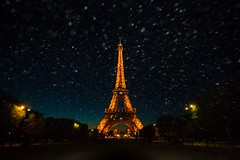 Eiffel tower and dust, Paris