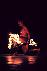 Fire- (The Creaking Door) Tags: fire hawaii dancing flames thebigisland laulau traditionaldance holiday2012