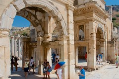Welcome to Ephesus (hecticskeptic) Tags: turkey ephesus libraryofcelsus templeofhadrian bouleuterion nymphaeumtraiani markamorgan