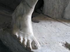 Lysippos, Apoxyomenos, foot