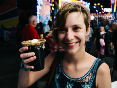 Leanne (Zack Huggins) Tags: panasoniclumixlx100 vscofilm pack06 statefairoftexas statefair dallastx fairpark portrait bokeh girl smile babe beer smoresbeer specialtybeer craftbeer fancy 43 carnival availablelight handheld pointandshoot compact digitalcompact advancedcompact laughter happy cute microfourthirds