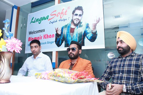 Bollywood Playback singer Alamgir Khan's visit to LinguaSoft Edutech Office in Chandigarh