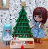 1 of 2 - Advent Christmas Tree (lyndell23) Tags: christmas advent blythedolls takarapetite customisedpetiteblythe jrmiddieblythe