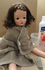 The Real Cissy (Foxy Belle) Tags: madame green vintage eyes doll hard plastic 1950s alexander brunette tlc cissy