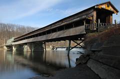 Harpersfield Covered Bridge, Ashtabula County -Ohio (rivadock4) Tags: county bridge ohio lake river lakeerie grand covered coveredbridge erie grandriver ashtabula ashtabulacounty harpersfield harpersfieldcoveredbridge