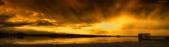 Lake view - 5k retina Pano DSC09247 (cleansurf2) Tags: light sunset wallpaper panorama orange cloud lake color colour reflection art water yellow newcastle landscape mood glow imac screensaver background widescreen pano jetty wide dream vivid surreal australia fantasy 5k retina waterscape ilce 5120 a6000 emount ilce6000
