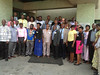 Group photo: Participants at cassava planning and review meeting (IITA Image Library) Tags: planning nigeria meetings participants cassava abuja manihotesculenta sardscproject