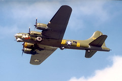 Boeing B17 Flying Fortress 124485 at St Mawgan (A F Photos) Tags: flying b17 boeing fortress 124485