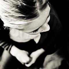 Anne-lumire (Christine Lebrasseur) Tags: portrait people blackandwhite france art 6x6 girl canon child fr onblack vende highangle 500x500 eleonore vouilllesmarais allrightsreservedchristinelebrasseur