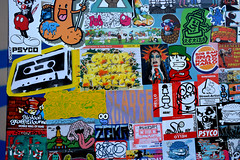 happy 2016 combo (wojofoto) Tags: amsterdam stickers stickercombo stickerart wojo wojofoto wolfgangjosten ndsm nederland netherland holland pressone