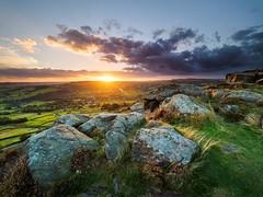 Curbar sunset (Stephen Elliott Photography) Tags: peakdistrict derbyshire hopevalley curbar edge sunset autumn evening rocks olympus em1 714mm nisi filters