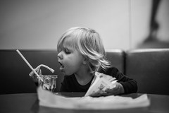 Fry dipped in sundae ice (' A r t ') Tags: arthurcammelbeeck ava cammelbeeck candid denmark people aarhus artcammelbeeck eating fries girl ice indoor mennesker wwwflickrcomphotosartcammelbeeck wwwcamelendk younggirl