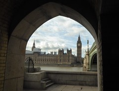 Through the arch (JuliaC2006) Tags: palaceofwestminster housesofparliament bigben bridge river thames london