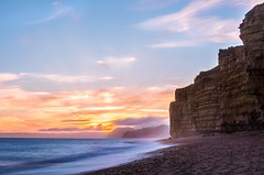 Hive Beach, Dorset (www.simonhigginbottom.co.uk) Tags: simon higginbottom uk dorset beach sunset nikon d800 seascape landscape cliffs jurassic coast clouds l longexposure