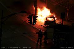 Car on fire #1 (srkirad) Tags: car fire firefight firefighting blaze night winter street belgrade serbia vatra poar beograd srbija auto