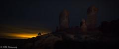 Evening Glow, Garden of Eden (KRHphotos) Tags: paintingwithlight nightphotography utah sandstoneformation gardenofeden landscape archesnationalpark nature lightpainting