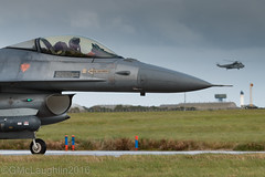 Return to Base (GWMcLaughlin) Tags: 70d ef aircraft viper aeroplane flying fighting canon force exercise falcon air dynamics raf joint scotland 100400l aviation portuguese warrior military 162 f16 100400 general lossiemouth flight