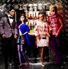 Out with the In Crowd (moogirl2) Tags: poppyparker integrity barbie barbiefashion mod nitelightning sparklesquares nigelnorth codenamearmcandy diorama miniatures fashionroyalty 60sfashions 1960sfashions 1960s 60s