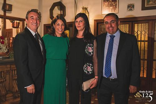 José Luis Humanes, Cuca Díaz de la Cuerda, Marta y Pedro Abadía. Restaurante Venta de Aires de Toledo
