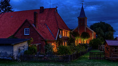 Nocturnal (Elenovela) Tags: nacht night availablelight bluehour gebude architektur village dorf idylle idyll germany deutschland elbe elbufer elberadweg mecklenburgvorpommern panasonicgh4 panasonic1235mmf28 elenovela karstenmller