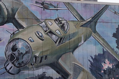 Klamath Falls Mural_3298 (Mike Head - Jetwashphotos) Tags: b17 flyingfortress klamathfalls wall wallart image honor history historical cyoung or oregonstate us usa america