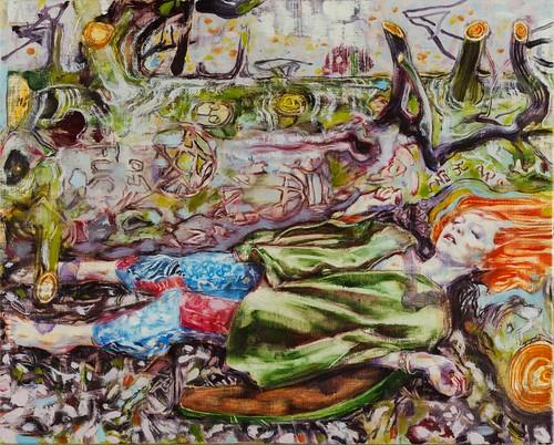 Dominic Shepherd 'Green Wood', 2015 Oil on linen 32x40cm