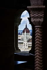 Budapest - The Parliament Seen from the Fisherman's Bastion (Alessandro Dozer Fondaco) Tags: budapest city citt bastione pescatori parlamento parliament bastion fisherman vista view building palazzo