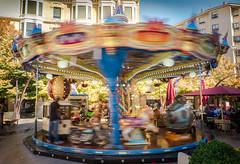 Carrusel (Carlos Pea Fernandez) Tags: carrusel tiovivo carousel animales juegos nios zaragoza children games movimiento movement colores girar spin otoo autumm xt1 1855 fujifilm fujinon