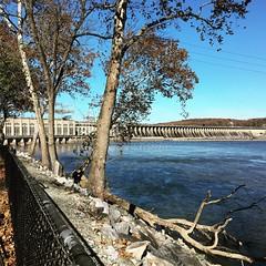 Conowingo Dam ~ HFF! (karma (Karen)) Tags: conowingodam maryland harfordco dams rivers susquehannariver trees fences squared iphone fencefriday hff cmwd topf25