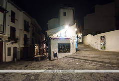 Granada, Spain (Naomi Rahim (thanks for 2 million hits)) Tags: night granada andalusia spain espaa europe europa 2016 travel travelphotography nikon nikond7200 wanderlust lowlight street streetphotography alley residential hill steep bend architecture 1116mm