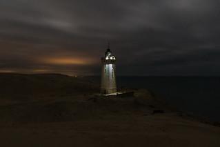 Lightpainting on Rubjerg Knude