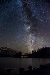 Dark Skies (pauls1502) Tags: milkyway stars sky nightsky night canada banff mountains lakes longexposure nikon banffnationalpark twojacklake mountrundle
