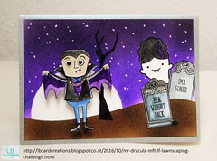Mr. Dracula | MFT & LF | Lawnscaping Challenge #140 (Lisa/B) Tags: lawnscapingchallenge lawnfawn mftstamps mft distressinks gansaitambi vampire graveyard grave ghost frightfulfriends booyah moon night scary halloween cardmaking watercoloring creative crafty handmade lbcardcreations