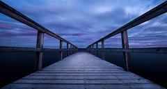 Ranheim pier (strupert) Tags: ranheim bluehour pinkclouds longexposure nikon seascape pier norway norge trondheim trøndelag