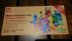 Meet and Greet with Sesame Street with Elmo and Cookie Monster - Thursday 1 Dec ember 2016 11.30-2pm (avlxyz) Tags: fb sesamestreet elmo cookiemonster australiapost southerncrosslane